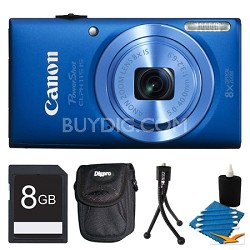 Powershot ELPH 115 IS Blue Digital Camera 8GB Bundle