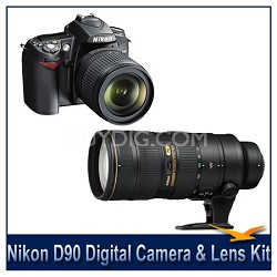D90 DX-Format Digital SLR Outfit w/ 18-105mm DX VR and 70-200mm II