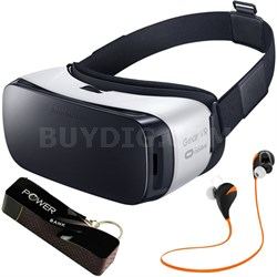Gear VR Virtual Reality Headset - SM-R322NZWAXAR - Headphone/Power Bank Bundle