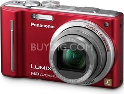 DMC-ZS7R LUMIX 12.1 MP Digital Camera with 16x Intelligent Zoom (Red)
