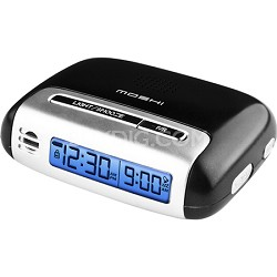Speak n Set Touch Activated Travel Alarm Clock Black