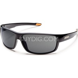 Voucher Sunglasses Black Frame/Gray Polarized Lens
