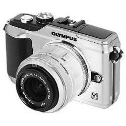PEN E-PL2 12.3 MP 3-inch LCD Digital SLR Camera With 14-42 Lens Kit - Silver