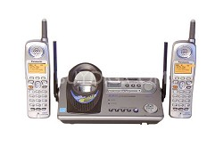 KX-TG5212M 5.8 GHz 2 Handset Expandable Cordless Phone System with Answering Sys