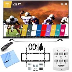 60UF8500 - 60-Inch 2160p 240Hz 3D 4K LED UHD TV w/ WebOS Mount & Hook-Up Bundle