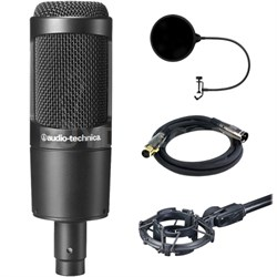 Large Diaphragm Studio Condenser Microphone w/ Filter Bundle