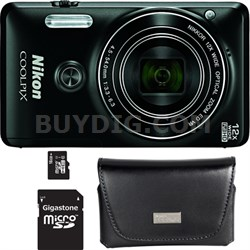 COOLPIX S6900 16MP 1080p Wi-Fi Camera with 12X Zoom - Refurbished Bundle