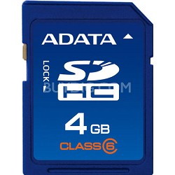 4 GB Secure Digital High-Capacity (SDHC) Class 6 -  { ASDH4GCL6-R }