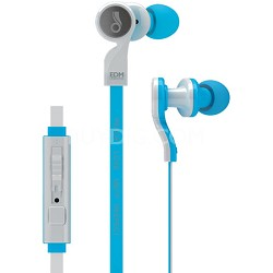 EDM Universe D1P In-Ear Headphones with Headset Functionality (Peace/Blue)