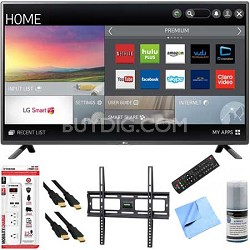 50LF6100 - 50-inch 120Hz Full HD 1080p Smart LED HDTV Plus Mount Hook-Up Bundle