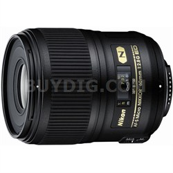 AF-S Micro-NIKKOR 60mm f/2.8G ED Lens - FACTORY REFURBISHED