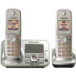KX-TG4132N Dect 6.0 Cordless Phone System with Answering Machine and 2 Handsets