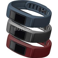 vivofit 2 Wrist Bands (Large) (Burgundy/Slate/Navy)