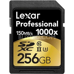 256GB Professional 1000x SDHC/SDXC Class 10 UHS-II Memory Card Up to 150 MB/s