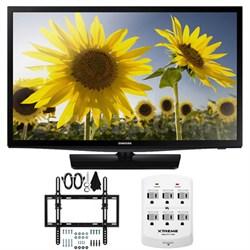 UN24H4500 24-inch HD 720p Smart LED TV CMR 120 Plus Tilt Mount & Hook-Up Bundle