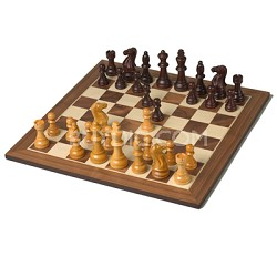 Artisans Deluxe Wooden Chess Set with inlaid Wooden Chessboard