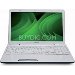 "Satellite 15.6"" L655-S5156WH Notebook PC - White Intel Pentium P6200 Processor"
