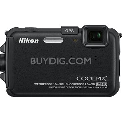COOLPIX AW100 16MP Waterproof Shockproof Freezeproof Black Digital Camera REFURB