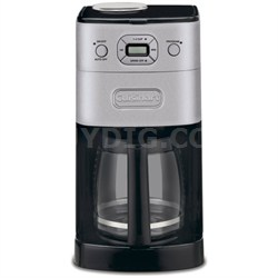 Refurbished DGB-625BC Grind-and-Brew 12-Cup Automatic Coffeemaker, Brushed Metal