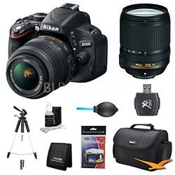 D5100 DX-format DSLR Body w/ 18-55mm VR and 18-140mm VR Pro Lens Bundle