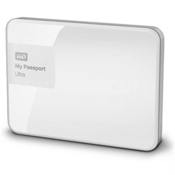 My Passport Ultra 1 TB Portable External Hard Drive, White - OPEN BOX