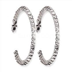 50mm Casting Hoop Earrings - Silver
