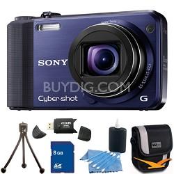 Cyber-shot DSC-HX7V Blue Digital Camera 8GB Bundle