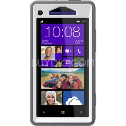 Defender Series Case for HTC Windows Phone 8X - Retail Packaging - Glacier White