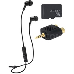 M9B Bluetooth Wireless Noise-Isolating In-Ear Headset & Memory Card Bundle