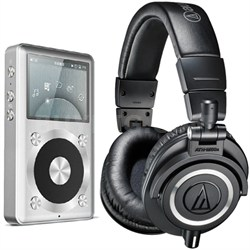 ATH-M50X Professional Studio Headphones (Black) Fiio X1 High Res Music Player