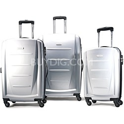 Winfield 2 3 Piece Roller Luggage Set (Silver)