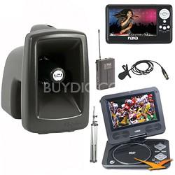 MegaVox Pro Portable Sound System Bonus Naxa LCD TV & DVD Player