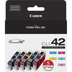 CLI-42 Color 5 Ink Value Pack - Cyan, Magenta, Yellow, Photo Cyan, Photo Magenta