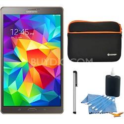 "Galaxy Tab S 8.4"" Tablet - (16GB, WiFi, Titanium Bronze) Accessory Bundle"