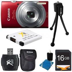 PowerShot ELPH 140 IS 16MP 8x Opt Zoom Digital Camera Red Kit