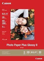 Photo Paper Plus Glossy II 8.5 x 11 in 20 Sheets