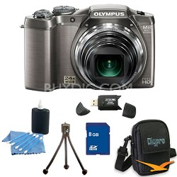 8 GB Kit SZ-31MR iHS 16MP 24X Opt Zoom 3 in LCD Camera - Silver