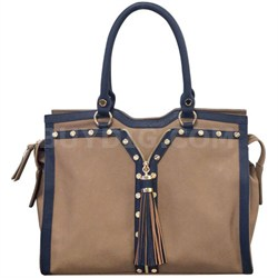 Handbags Patton Tote - Taupe / Blue