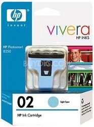 HP 02 Light Cyan Ink Cartridge with Vivera Ink