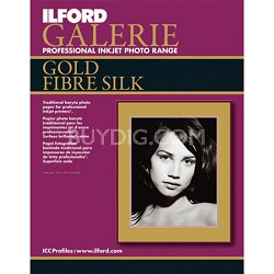 Galerie Gold Fibre Silk Inkjet 8.5 x 11 Photo Paper, 10 Sheets