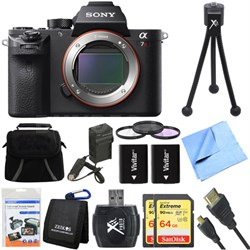 a7R II Full-frame Mirrorless Interchangeable Lens 42.4MP Camera Deluxe Bundle