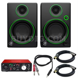 "CR Series 3"" Creative Reference Multimedia Monitor Pair w/Audio Interface Bundle"