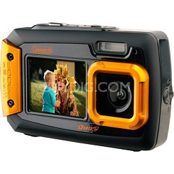 Duo2 2V9WP Rugged Dual Screen Waterproof Camera - Orange