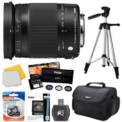 18-300mm F3.5-6.3 DC Macro OS HSM Lens (Contemporary)for Nikon DX Cameras Bundle