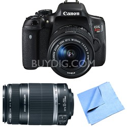EOS Rebel T6i Digital SLR Camera with EF-S 18-55mm and 55-250mm Lens Bundle