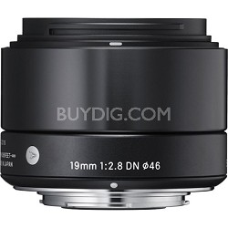 19mm F2.8 EX DN ART Lens for Micro Four Thirds (Black) - OEPN BOX