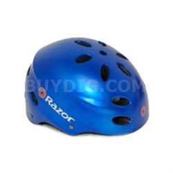 V17 Youth Ages 8 - 14 Helmet  - Satin Blue - OPEN BOX