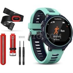 Forerunner 735XT GPS Running Watch Run-Bundle with Red Band - Midnight Blue