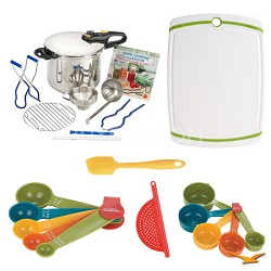 Duo 10 Pc. Stainless Steel Pressure Canner Set, Board, and Measuring Sets Bundle