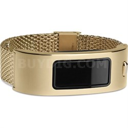 Vivofit Activity Tracker (Black) Gold Mesh Wristband Bundle